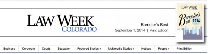 Law Week Colorado Barrister's Best - LawBank