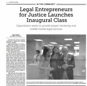 Legal Entrepreneurs for Justice